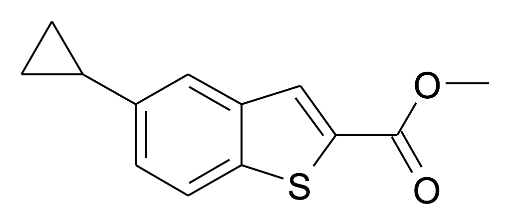 5-Cyclopropyl-benzo[b]thiophene-2-carboxylic acid methyl ester