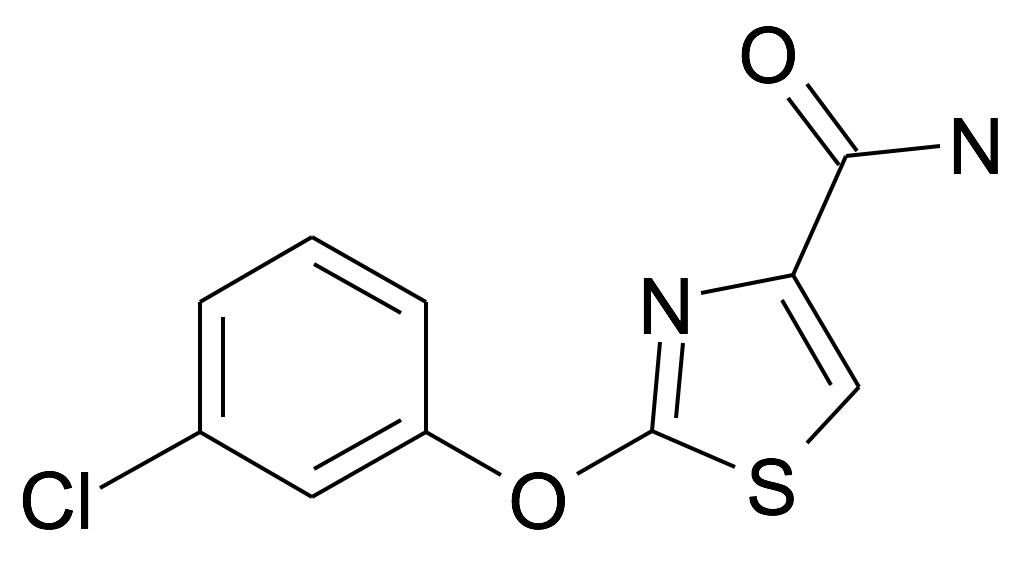 | MFCD31714281 | 2-(3-Chloro-phenoxy)-thiazole-4-carboxylic acid amide | acints