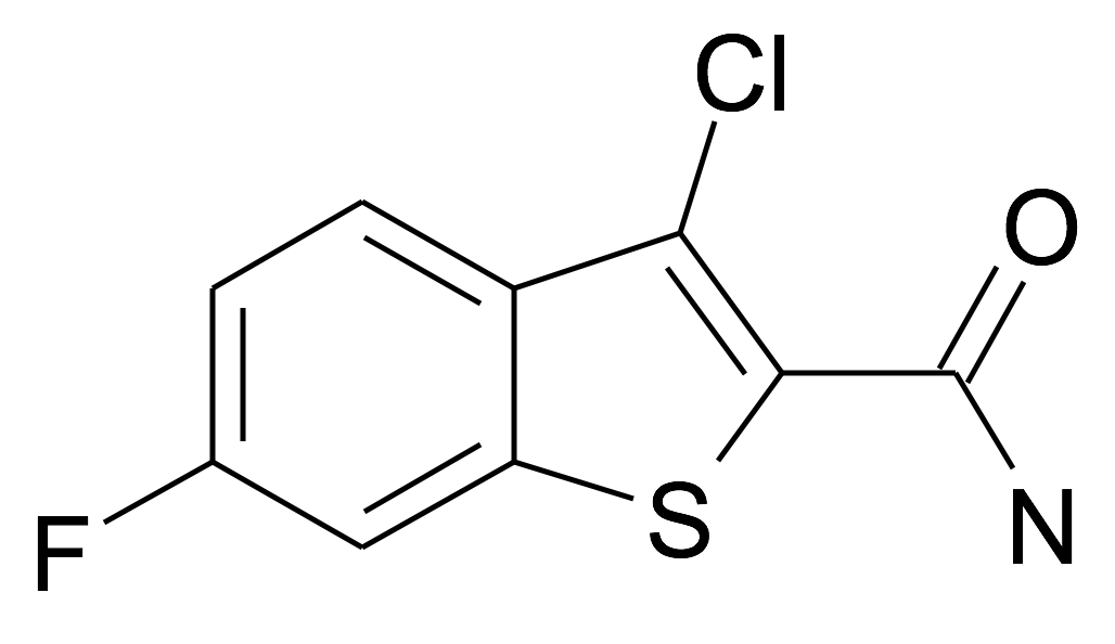 3-Chloro-6-fluoro-benzo[b]thiophene-2-carboxylic acid amide