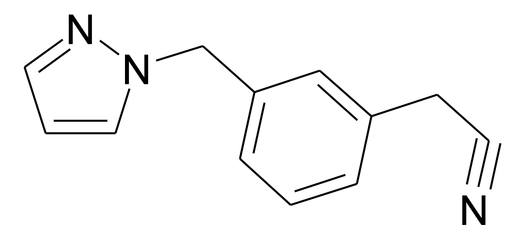 (3-Pyrazol-1-ylmethyl-phenyl)-acetonitrile