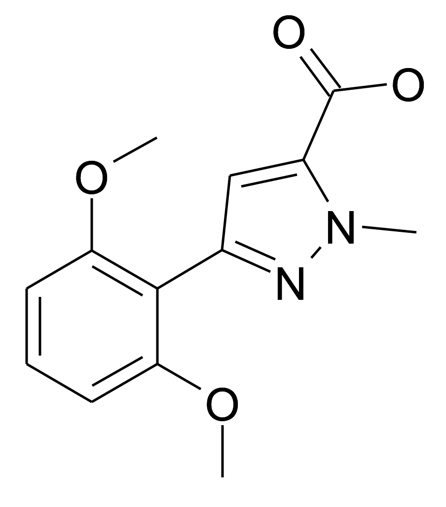 | MFCD17193887 | 5-(2,6-Dimethoxy-phenyl)-2-methyl-2H-pyrazole-3-carboxylic acid | acints