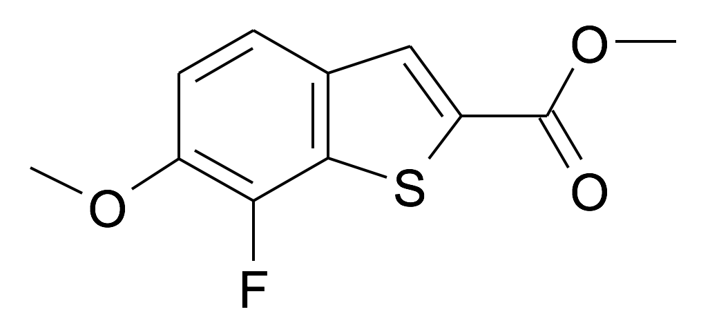 7-Fluoro-6-methoxy-benzo[b]thiophene-2-carboxylic acid methyl ester
