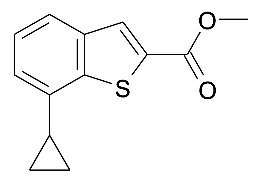 7-Cyclopropyl-benzo[b]thiophene-2-carboxylic acid methyl ester