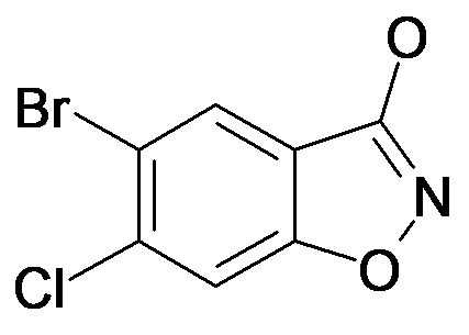 5-Bromo-6-chloro-benzo[d]isoxazol-3-ol