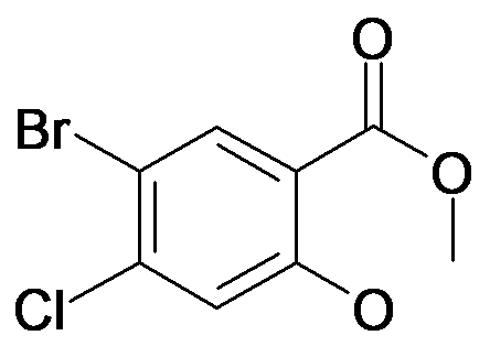 5-Bromo-4-chloro-2-hydroxy-benzoic acid methyl ester