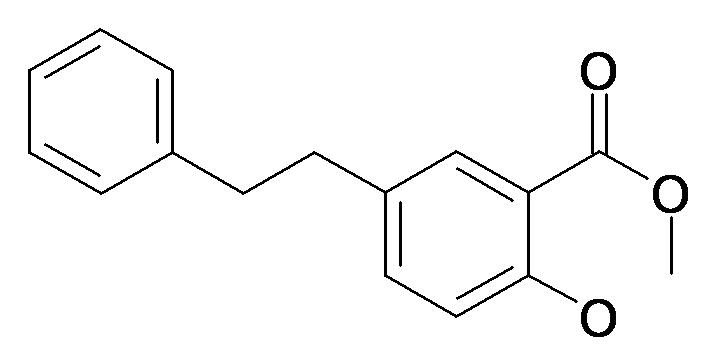 2-Hydroxy-5-phenethyl-benzoic acid methyl ester