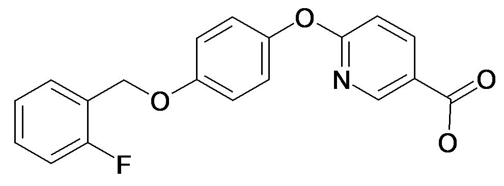 6-[4-(2-Fluoro-benzyloxy)-phenoxy]-nicotinic acid