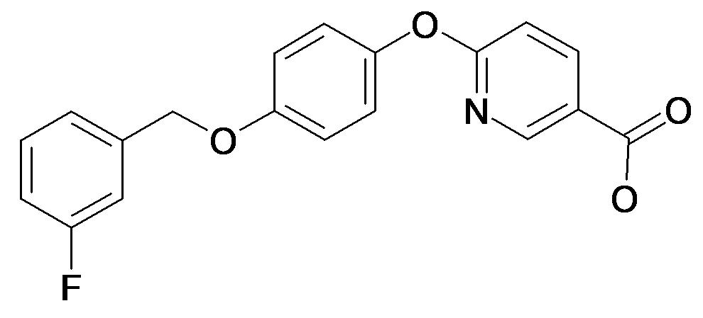 6-[4-(3-Fluoro-benzyloxy)-phenoxy]-nicotinic acid