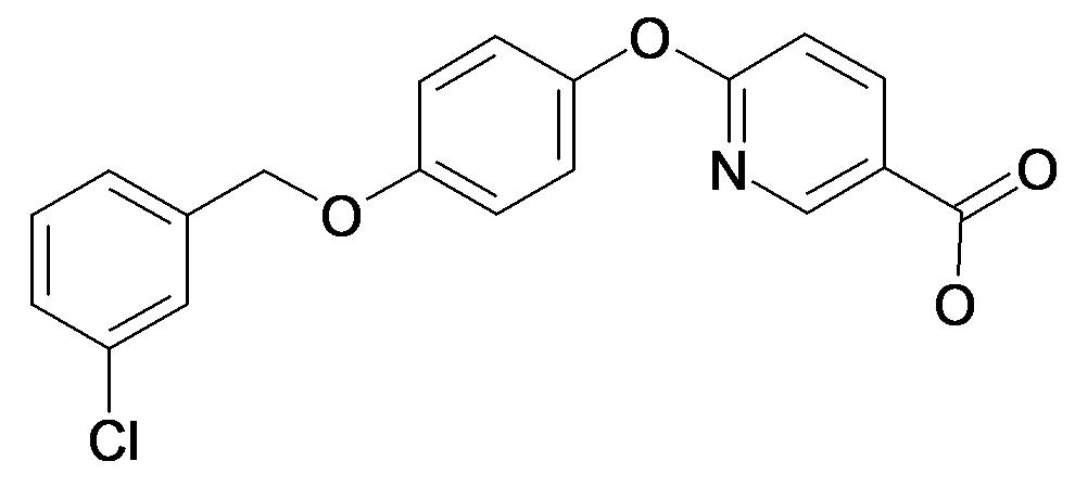 6-[4-(3-Chloro-benzyloxy)-phenoxy]-nicotinic acid