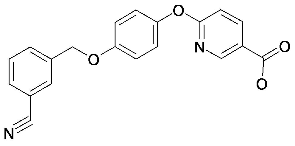 6-[4-(3-Cyano-benzyloxy)-phenoxy]-nicotinic acid