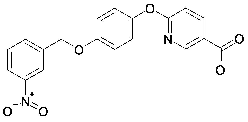 6-[4-(3-Nitro-benzyloxy)-phenoxy]-nicotinic acid