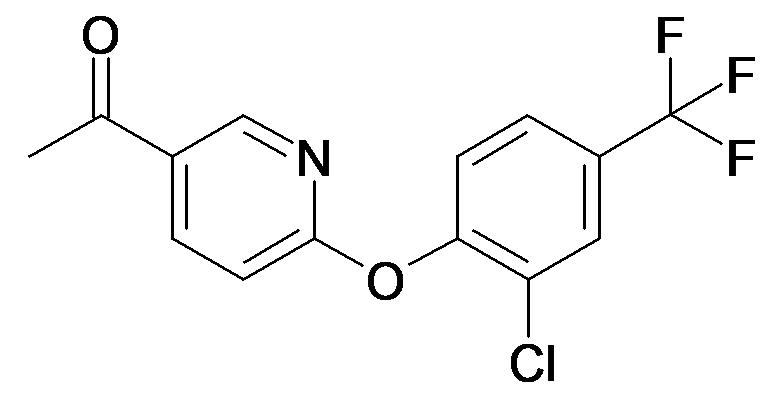 1-[6-(2-Chloro-4-trifluoromethyl-phenoxy)-pyridin-3-yl]-ethanone