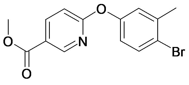 6-(4-Bromo-3-methyl-phenoxy)-nicotinic acid methyl ester