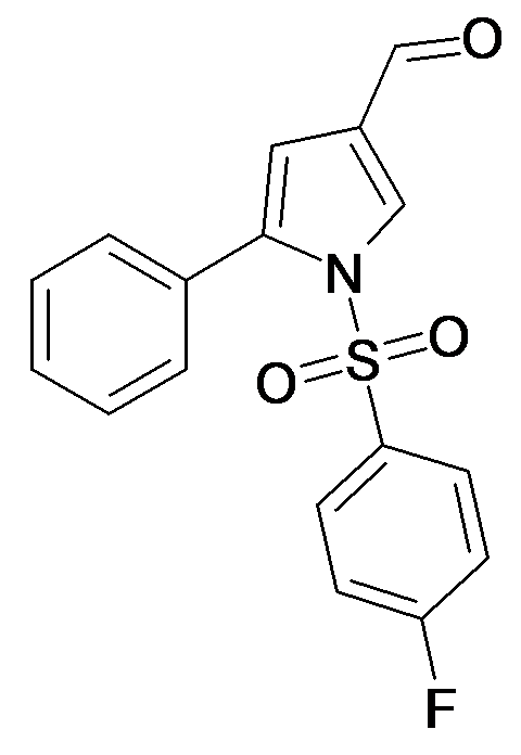 1-(4-Fluoro-benzenesulfonyl)-5-phenyl-1H-pyrrole-3-carbaldehyde