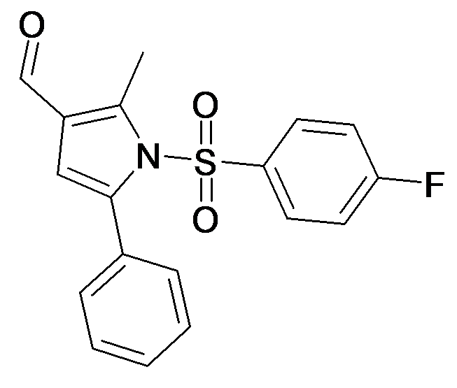 1-(4-Fluoro-benzenesulfonyl)-2-methyl-5-phenyl-1H-pyrrole-3-carbaldehyde