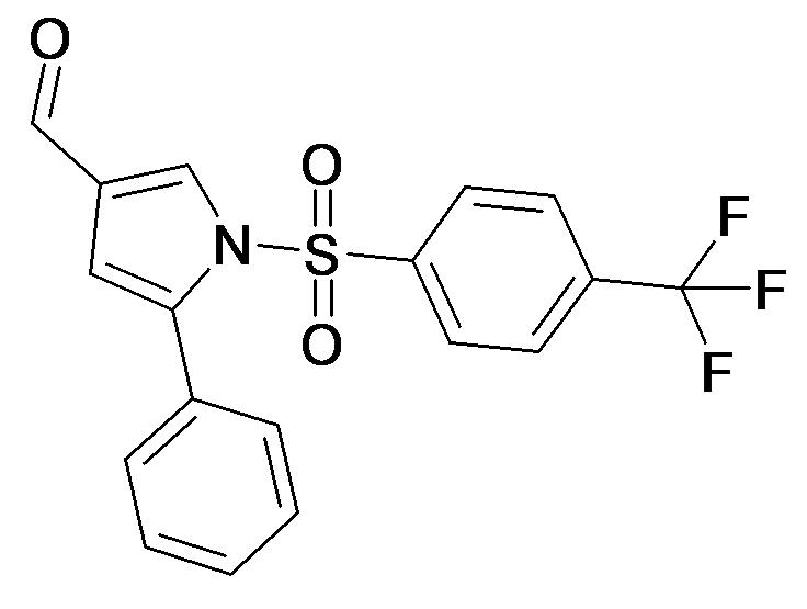 5-Phenyl-1-(4-trifluoromethyl-benzenesulfonyl)-1H-pyrrole-3-carbaldehyde