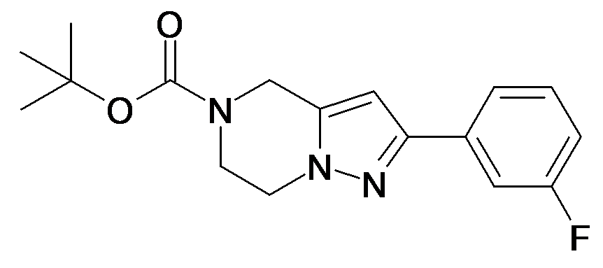2-(3-Fluoro-phenyl)-6,7-dihydro-4H-pyrazolo[1,5-a]pyrazine-5-carboxylic acid tert-butyl ester