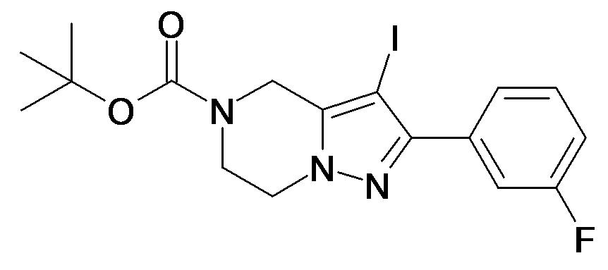 2-(3-Fluoro-phenyl)-3-iodo-6,7-dihydro-4H-pyrazolo[1,5-a]pyrazine-5-carboxylic acid tert-butyl ester