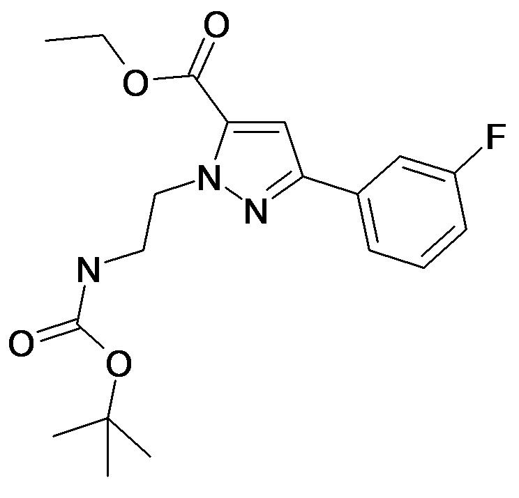 2-(2-tert-Butoxycarbonylamino-ethyl)-5-(3-fluoro-phenyl)-2H-pyrazole-3-carboxylic acid ethyl ester