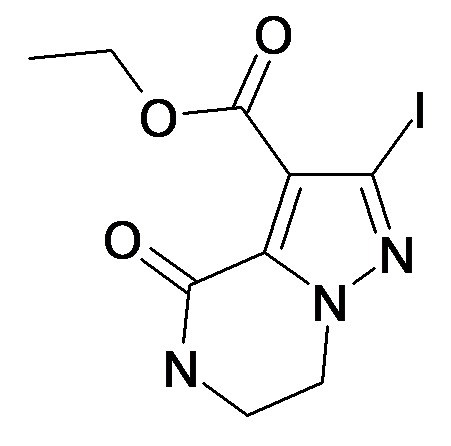 2-Iodo-4-oxo-4,5,6,7-tetrahydro-pyrazolo[1,5-a]pyrazine-3-carboxylic acid ethyl ester