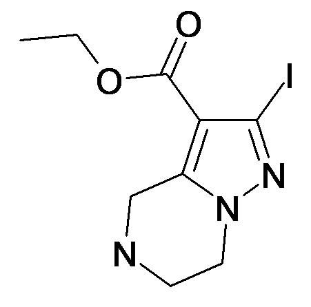 2-Iodo-4,5,6,7-tetrahydro-pyrazolo[1,5-a]pyrazine-3-carboxylic acid ethyl ester