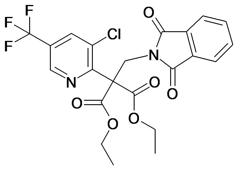2-(3-Chloro-5-trifluoromethyl-pyridin-2-yl)-2-(1,3-dioxo-1,3-dihydro-isoindol-2-yl)-malonic acid diethyl ester