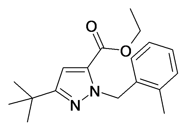 5-tert-Butyl-2-(2-methyl-benzyl)-2H-pyrazole-3-carboxylic acid ethyl ester