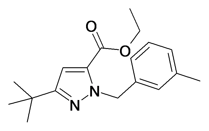 5-tert-Butyl-2-(3-methyl-benzyl)-2H-pyrazole-3-carboxylic acid ethyl ester