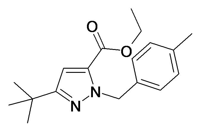 5-tert-Butyl-2-(4-methyl-benzyl)-2H-pyrazole-3-carboxylic acid ethyl ester