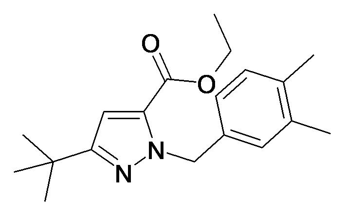5-tert-Butyl-2-(3,4-dimethyl-benzyl)-2H-pyrazole-3-carboxylic acid ethyl ester