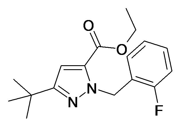5-tert-Butyl-2-(2-fluoro-benzyl)-2H-pyrazole-3-carboxylic acid ethyl ester