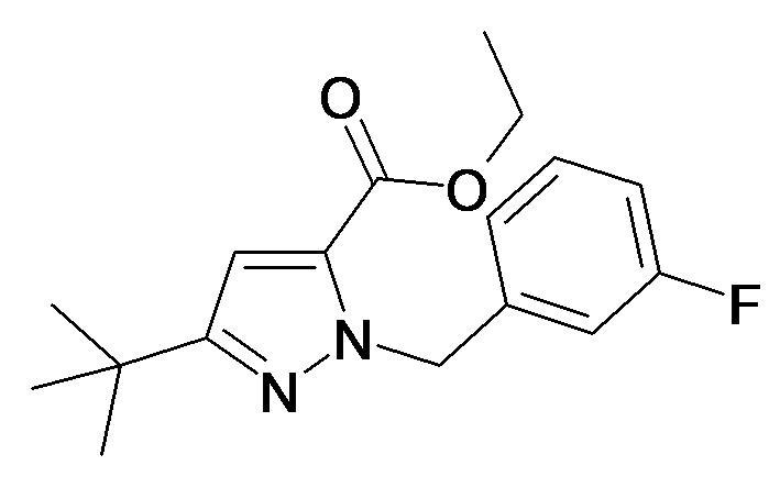 5-tert-Butyl-2-(3-fluoro-benzyl)-2H-pyrazole-3-carboxylic acid ethyl ester