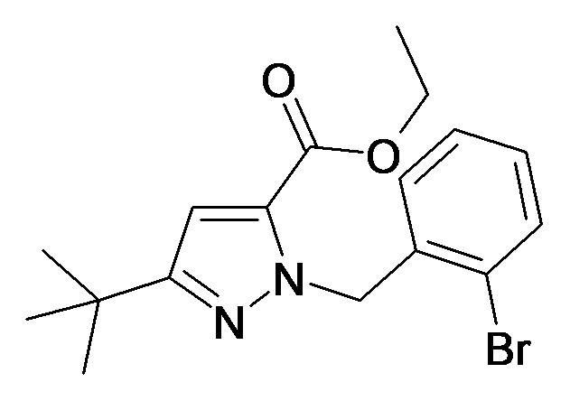 2-(2-Bromo-benzyl)-5-tert-butyl-2H-pyrazole-3-carboxylic acid ethyl ester