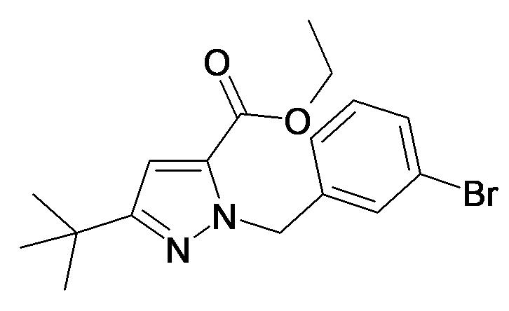 2-(3-Bromo-benzyl)-5-tert-butyl-2H-pyrazole-3-carboxylic acid ethyl ester