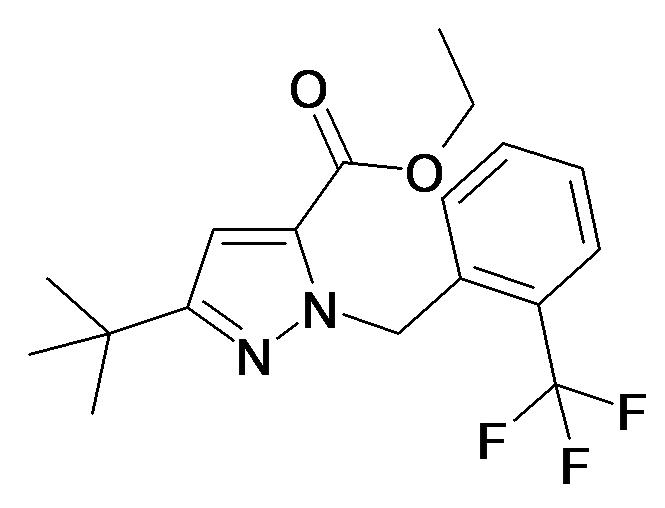 5-tert-Butyl-2-(2-trifluoromethyl-benzyl)-2H-pyrazole-3-carboxylic acid ethyl ester