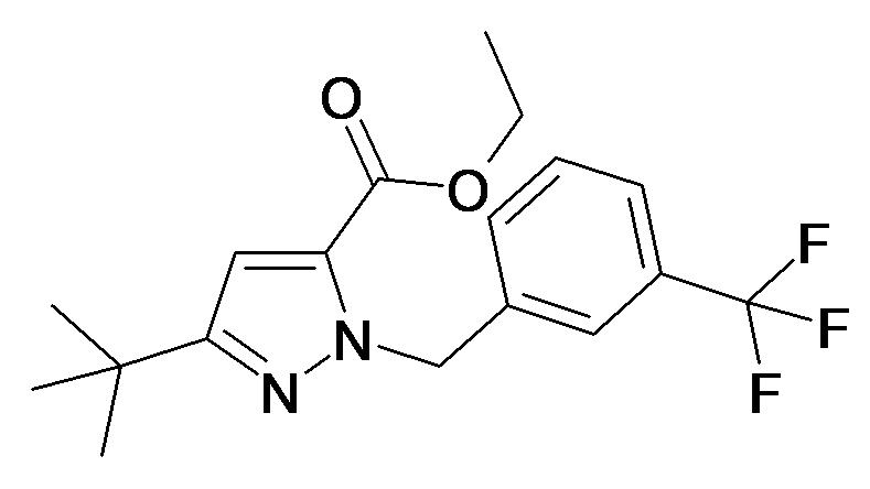 5-tert-Butyl-2-(3-trifluoromethyl-benzyl)-2H-pyrazole-3-carboxylic acid ethyl ester
