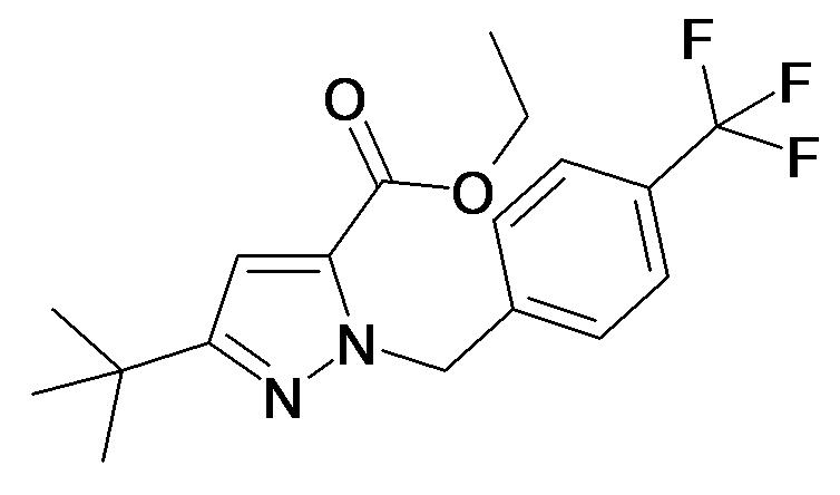 5-tert-Butyl-2-(4-trifluoromethyl-benzyl)-2H-pyrazole-3-carboxylic acid ethyl ester