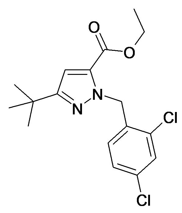 5-tert-Butyl-2-(2,4-dichloro-benzyl)-2H-pyrazole-3-carboxylic acid ethyl ester