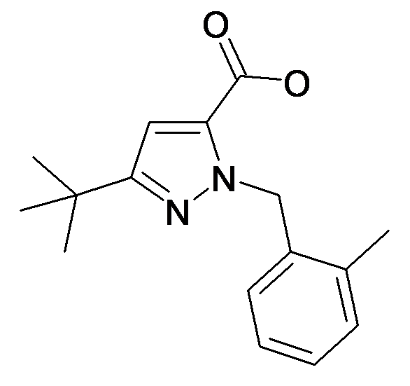 5-tert-Butyl-2-(2-methyl-benzyl)-2H-pyrazole-3-carboxylic acid