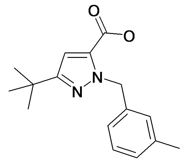 5-tert-Butyl-2-(3-methyl-benzyl)-2H-pyrazole-3-carboxylic acid