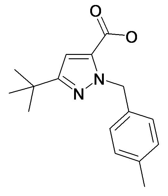 5-tert-Butyl-2-(4-methyl-benzyl)-2H-pyrazole-3-carboxylic acid
