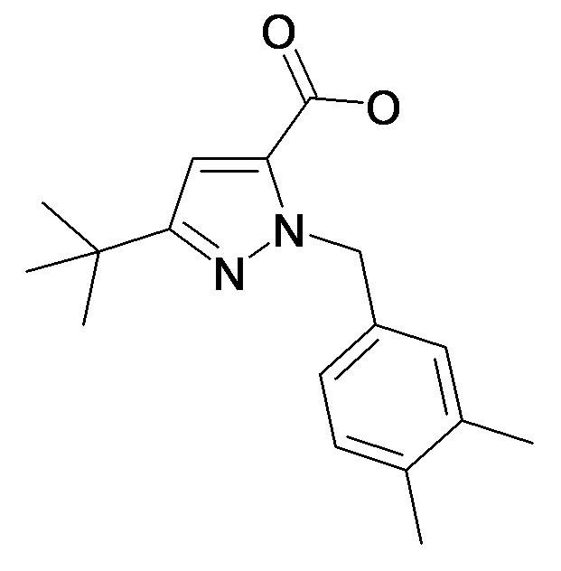 5-tert-Butyl-2-(3,4-dimethyl-benzyl)-2H-pyrazole-3-carboxylic acid