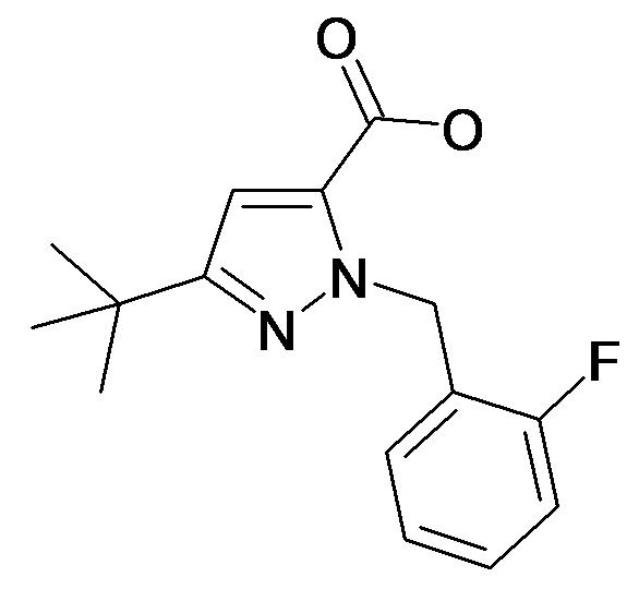 5-tert-Butyl-2-(2-fluoro-benzyl)-2H-pyrazole-3-carboxylic acid