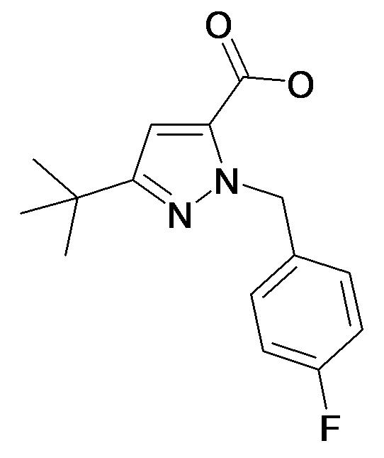 5-tert-Butyl-2-(4-fluoro-benzyl)-2H-pyrazole-3-carboxylic acid