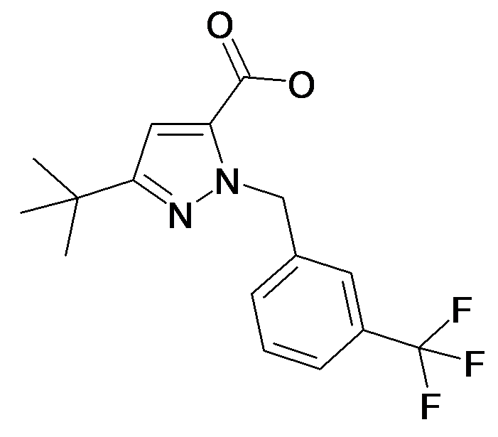 5-tert-Butyl-2-(3-trifluoromethyl-benzyl)-2H-pyrazole-3-carboxylic acid