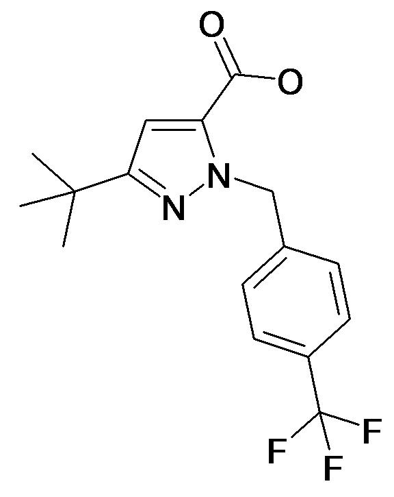 5-tert-Butyl-2-(4-trifluoromethyl-benzyl)-2H-pyrazole-3-carboxylic acid