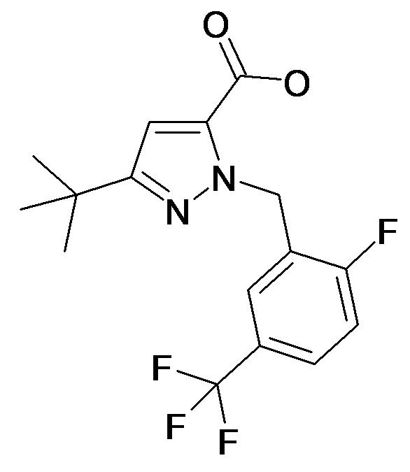 5-tert-Butyl-2-(2-fluoro-5-trifluoromethyl-benzyl)-2H-pyrazole-3-carboxylic acid