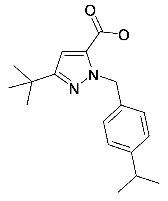 5-tert-Butyl-2-(4-isopropyl-benzyl)-2H-pyrazole-3-carboxylic acid