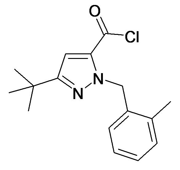 5-tert-Butyl-2-(2-methyl-benzyl)-2H-pyrazole-3-carbonyl chloride