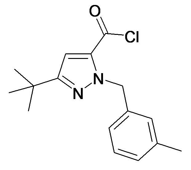 5-tert-Butyl-2-(3-methyl-benzyl)-2H-pyrazole-3-carbonyl chloride